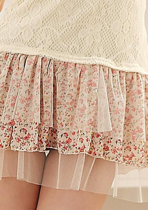 Vintage Häkelkleid in Beige - bei vipdress.de günstig shoppen