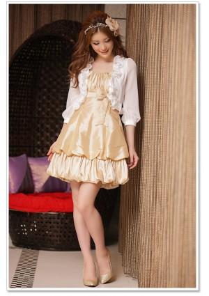 Zarter Rüschen-Bolero in halbtransparentem Weiß - bei VIP Dress online bestellen