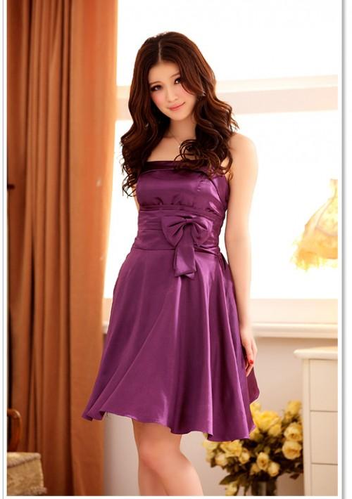 Abendkleid mit Glockenrock in Lila  - bei VIP Dress günstig kaufen
