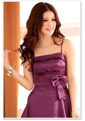 Abendkleid mit Glockenrock in Lila  - hier günstig online bestellen