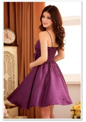 Abendkleid mit Glockenrock in Lila  - günstig bestellen bei VIP Dress