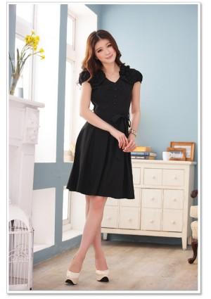 Schwarzes Abendkleid mit Vintage-Flair - günstig kaufen bei vipdress.de