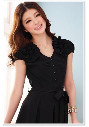 Schwarzes Abendkleid mit Vintage-Flair - hier günstig online bestellen