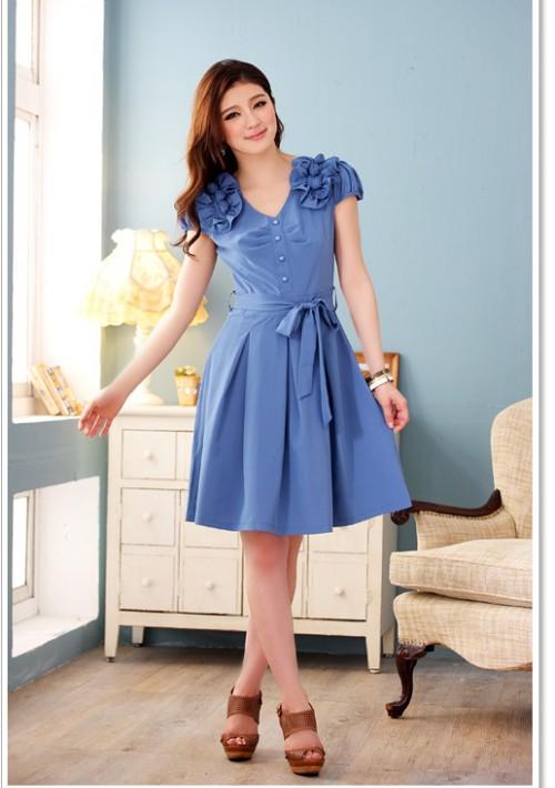 Blaues Abendkleid mit Esprit - bei VIP Dress günstig kaufen