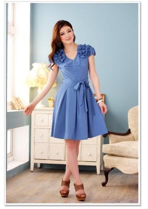 Blaues Abendkleid mit Esprit - günstig bestellen bei VIP Dress