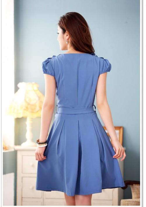 Blaues Abendkleid mit Esprit - günstig shoppen bei vipdress.de