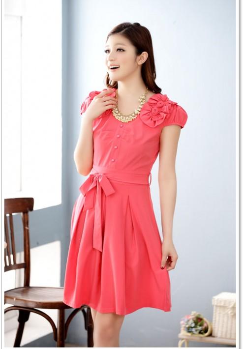 Rotes Abendkleid mit vielen Highlights  - bei vipdress.de günstig shoppen