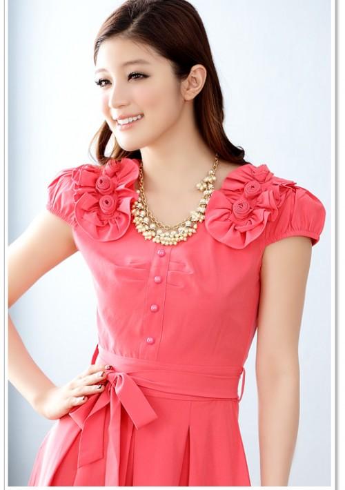 Rotes Abendkleid mit vielen Highlights  - hier günstig online bestellen