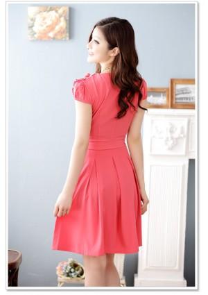 Rotes Abendkleid mit vielen Highlights  - online bestellen bei vipdress.de