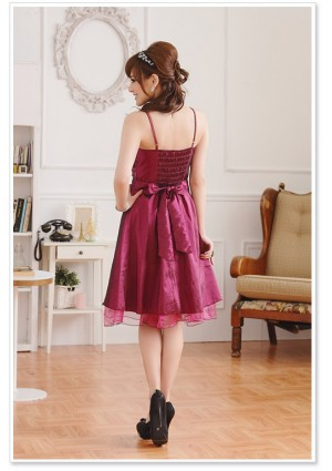 Satin Cocktailkleid in Rot - bei VIP Dress online bestellen