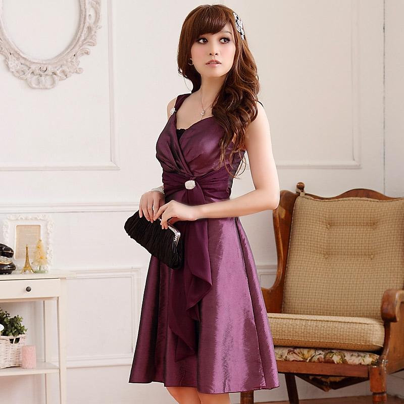 glamour ses kleid mit drapiertem oberteil in lila. Black Bedroom Furniture Sets. Home Design Ideas