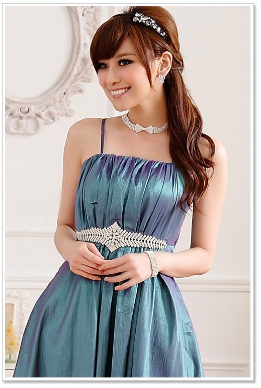 Kurzes Abendkleid in Grün günstig online kaufen