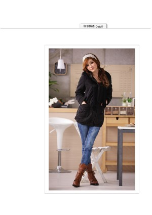 Jacke / Mantel mit Kapuze in Schwarz  - <br /> <b>Notice</b>:  Undefined index: altTail in <b>/home/vipdress/public_html/tools/smarty/compile/3a21d04bf1b909ed03be781795539a91ac65494e.file.product.tpl.php</b> on line <b>264</b><br />