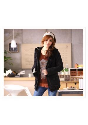 Jacke / Mantel mit Kapuze in Schwarz  - hier günstig online bestellen