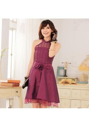 Abendkleid aus Spitze und elegantem Satin - bei VIP Dress günstig kaufen