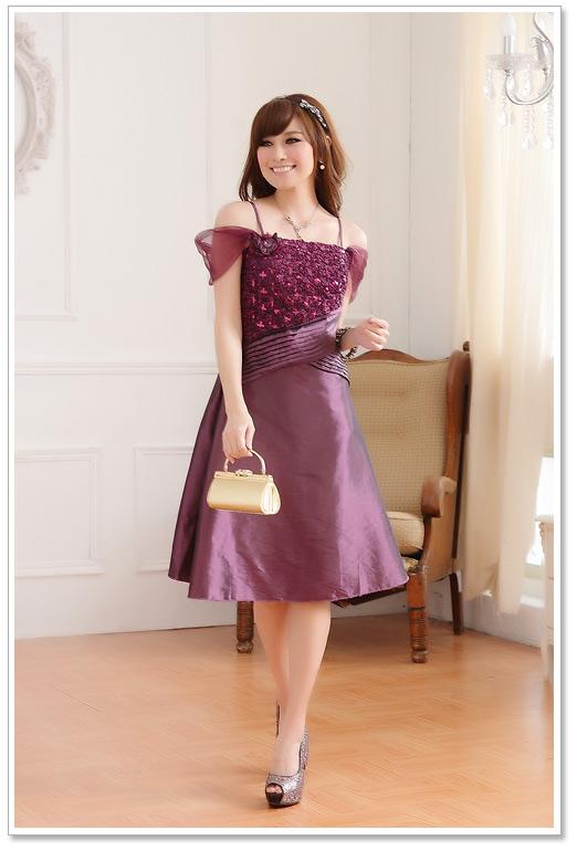 Abendkleid in Lila mit Pailletten günstig online kaufen ✿