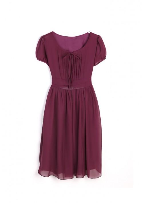 Vintage Chiffonkleid in trendigem Lila - hier günstig online bestellen