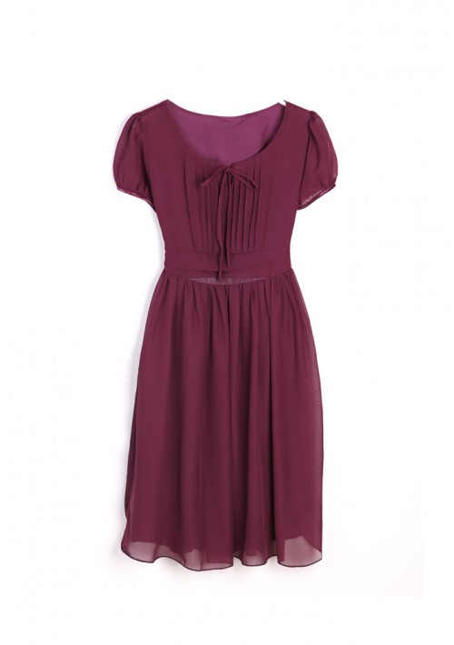 Vintage Chiffonkleid in trendigem Lila - bei VIP Dress online bestellen