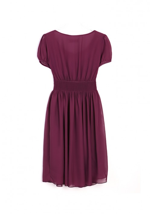 Vintage Chiffonkleid in trendigem Lila - günstig bei VIP Dress