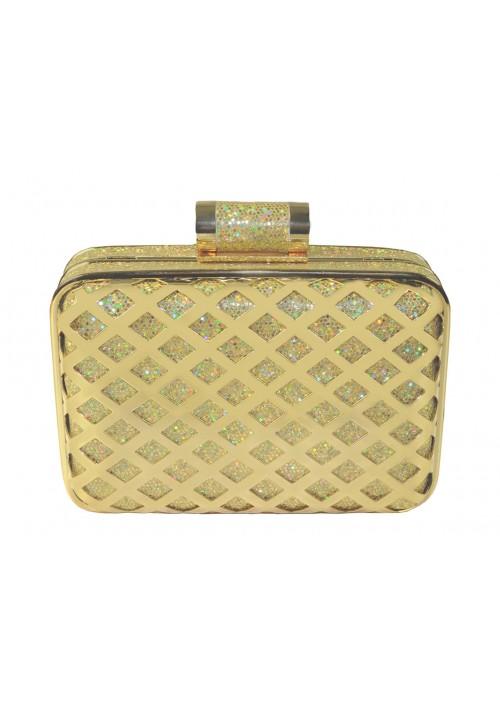 Eckige Clutch in elegantem Gold - hier günstig online bestellen