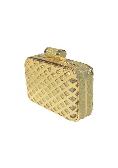 Eckige Clutch in elegantem Gold - günstig bestellen bei VIP Dress