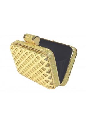 Eckige Clutch in elegantem Gold - bei VIP Dress online bestellen