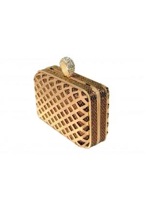 Goldfarbene Clutch mit Ringverschluss - günstig bestellen bei VIP Dress