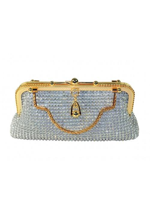 Silberne Abendtasche von erlesenem Design - günstig bei VIP Dress