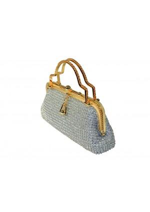 Silberne Abendtasche von erlesenem Design - schnell und günstig bei VIP Dress