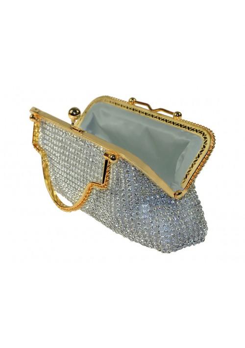 Silberne Abendtasche von erlesenem Design - hier günstig online bestellen