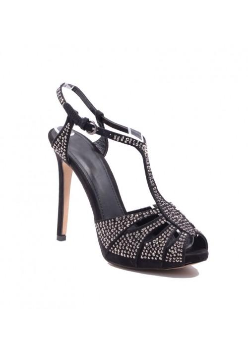 Schwarze High Heels mit Strassbesatz - günstig bestellen bei VIP Dress