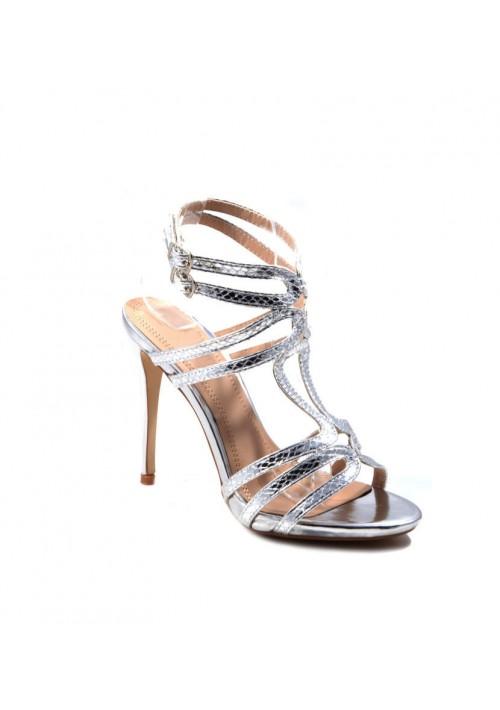 high heels in silberglanz optik g nstig bei vip dress. Black Bedroom Furniture Sets. Home Design Ideas