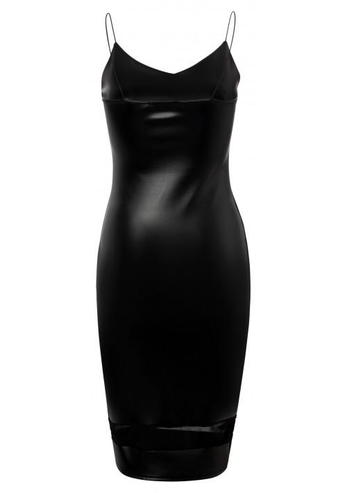 Schwarzes Cocktailkleid aus Kunstleder  - günstig kaufen bei vipdress.de