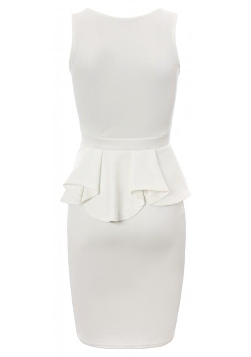Weißes Etui Abendkleid - günstig bei VIP Dress