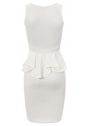 Weißes Etui Abendkleid - bei VIP Dress online bestellen