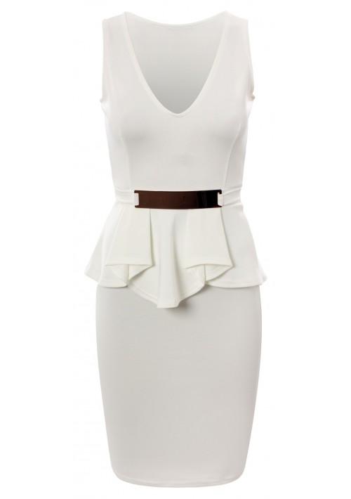 Weißes Etui Abendkleid - günstig bestellen bei VIP Dress
