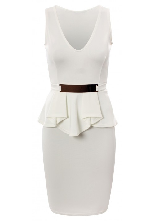 Weißes Etui Abendkleid - bei vipdress.de günstig shoppen
