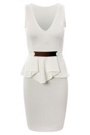 Weißes Etui Abendkleid