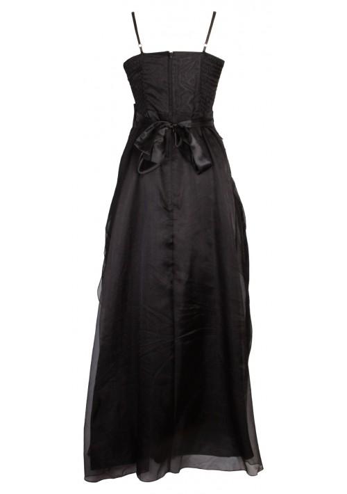 Detailreiches Abendkleid in noblem Schwarz - bei VIP Dress günstig kaufen