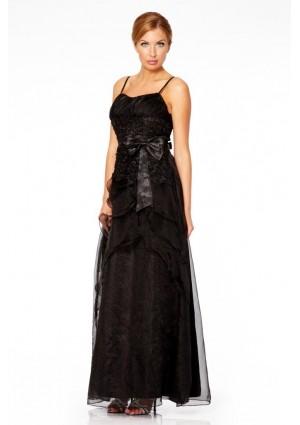 Detailreiches Abendkleid in noblem Schwarz - hier günstig online bestellen
