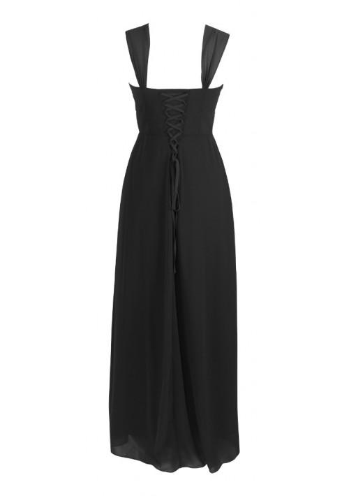 Langes Abendkleid in elegantem Schwarz - online bestellen bei vipdress.de
