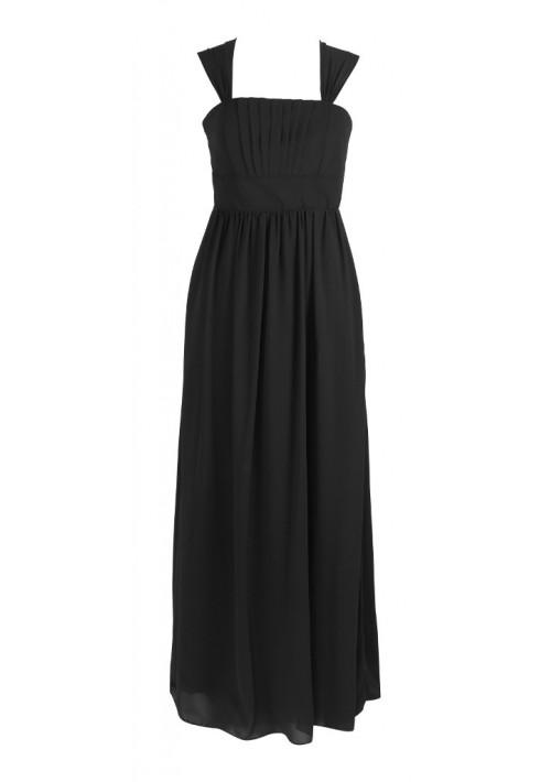 Langes Abendkleid in elegantem Schwarz - bei vipdress.de günstig shoppen