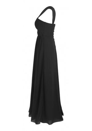Langes Abendkleid in elegantem Schwarz - schnell und günstig bei VIP Dress