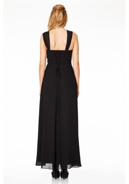 Langes Abendkleid in elegantem Schwarz - günstig bestellen bei VIP Dress