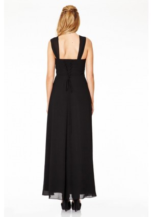 Langes Abendkleid in elegantem Schwarz - bei VIP Dress online bestellen