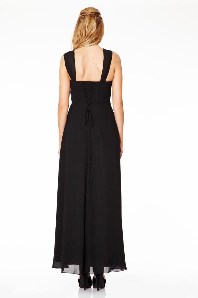 Langes Abendkleid in elegantem Schwarz online kaufen