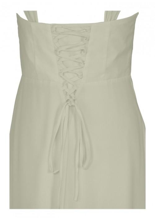 Elegantes Abendkleid in zartem Creme - bei vipdress.de günstig shoppen