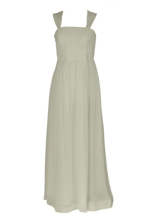 Elegantes Abendkleid in zartem Creme - bei VIP Dress günstig kaufen