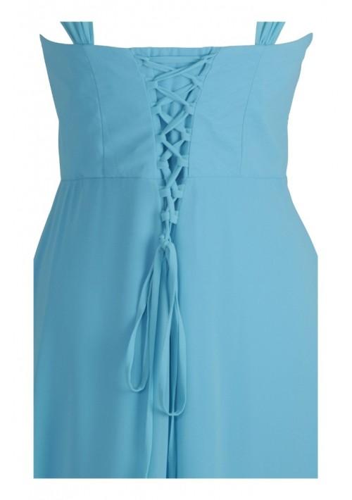 Modisches Abendkleid in Hellblau - bei VIP Dress günstig kaufen