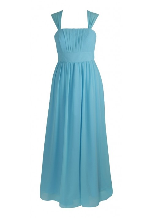 Modisches Abendkleid in Hellblau - günstig shoppen bei vipdress.de